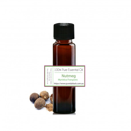 Buy Pure Nutmeg Essential Oil at purelyBlack Australia