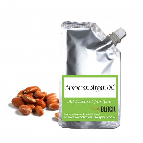 Pure Moroccan Argan Oil [ Argania spinosa ] 100mL Cold Pressed Refill Packaging