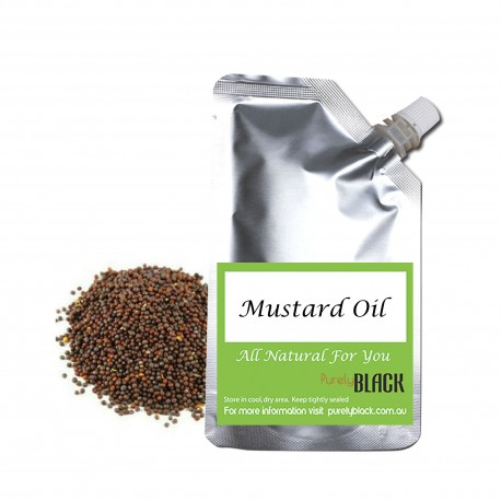 Pure Mustard Seed Oil 100mL Cold Pressed Refill Packaging