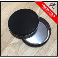 BLACK Aluminium Cosmetic Tin Case  40g