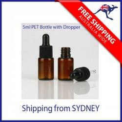 5 ml Essential Oil Bottle with Dropper - PET Amber Bottle