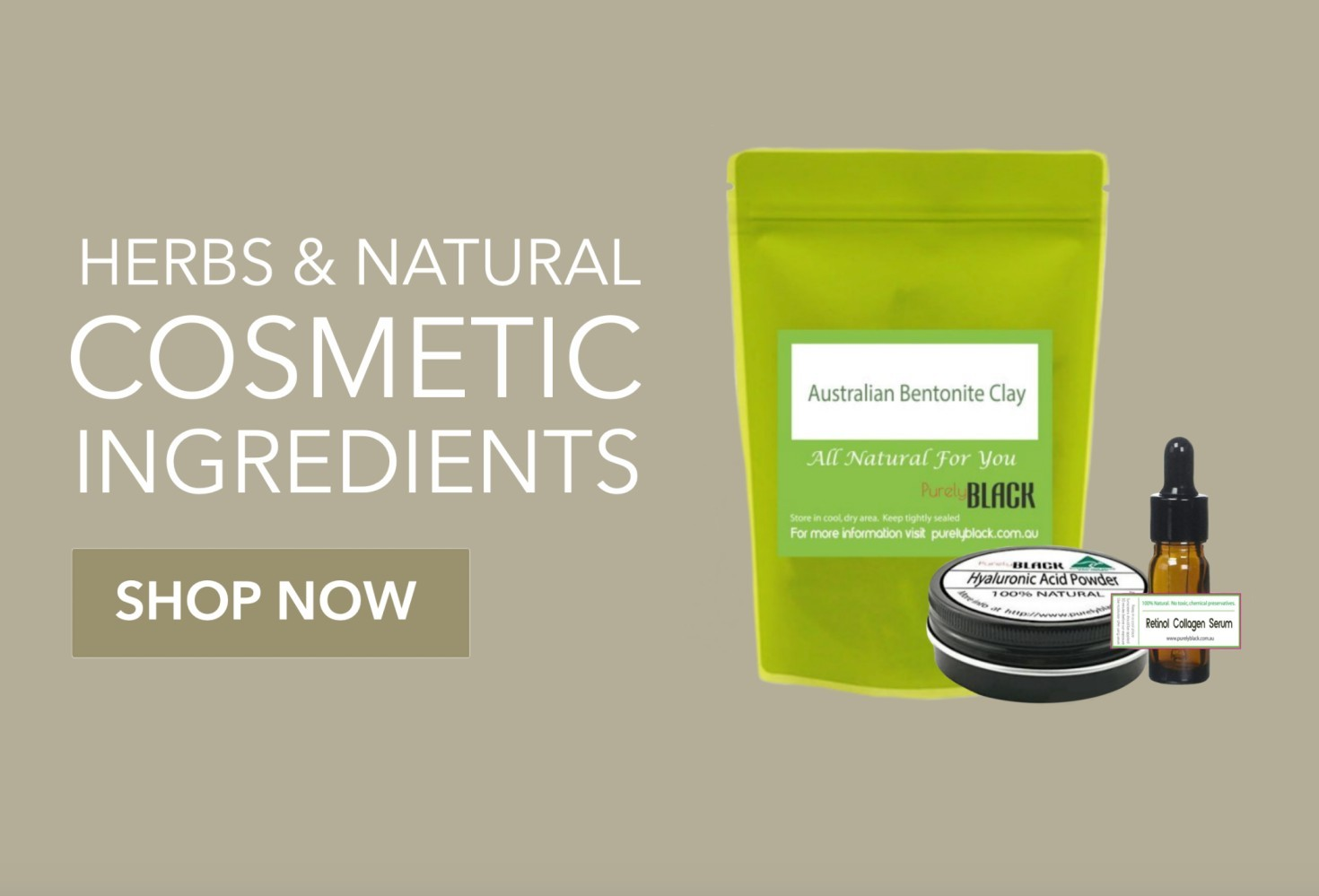 Herbs and Natural Cosmetic Ingredients